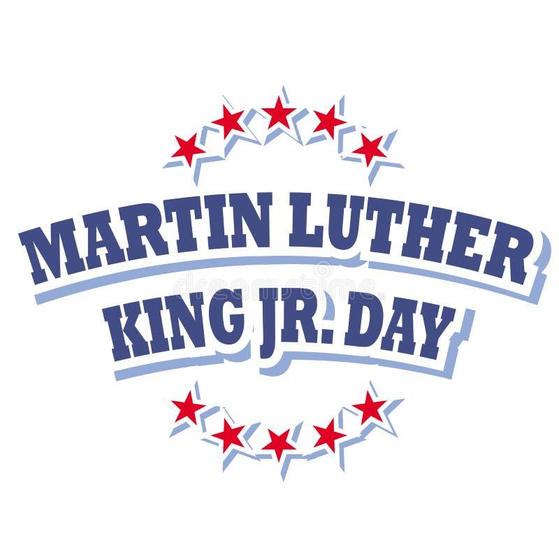 Martin Luther King Jr logotipo do dia ilustração royalty free