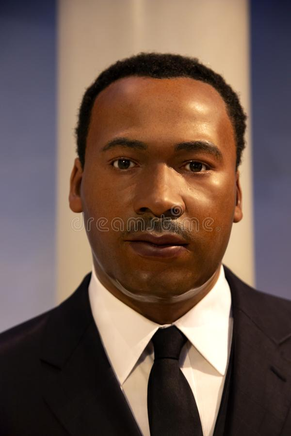Martin Luther King Jr in Madame Tussauds von New York lizenzfreies stockfoto