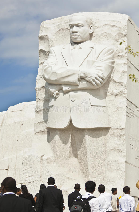 Martin Luther King, Jr Monument in Washington, DC. Martin Luther King, Jr Monument on the Mall in Washington, DC. Opened to the public the last week of August stock image