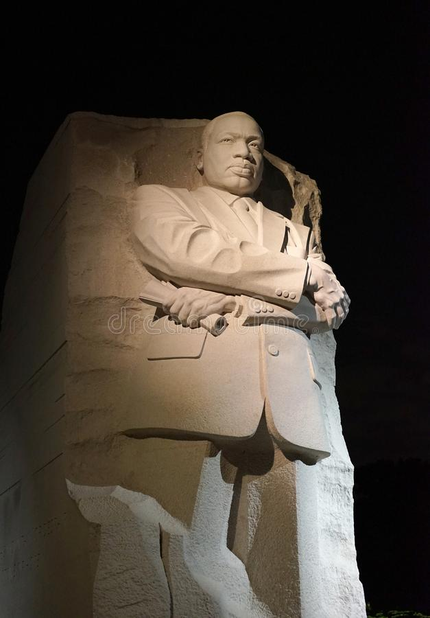 Martin Luther King, Jr. monument DC - night stock images