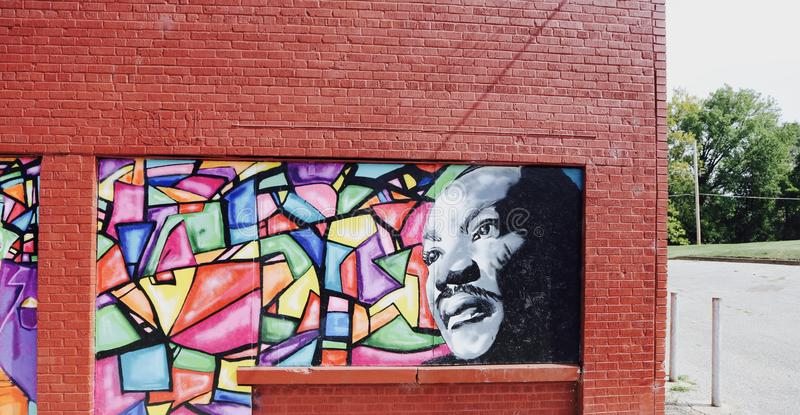Martin Luther King Jr Pittura della via fotografia stock libera da diritti