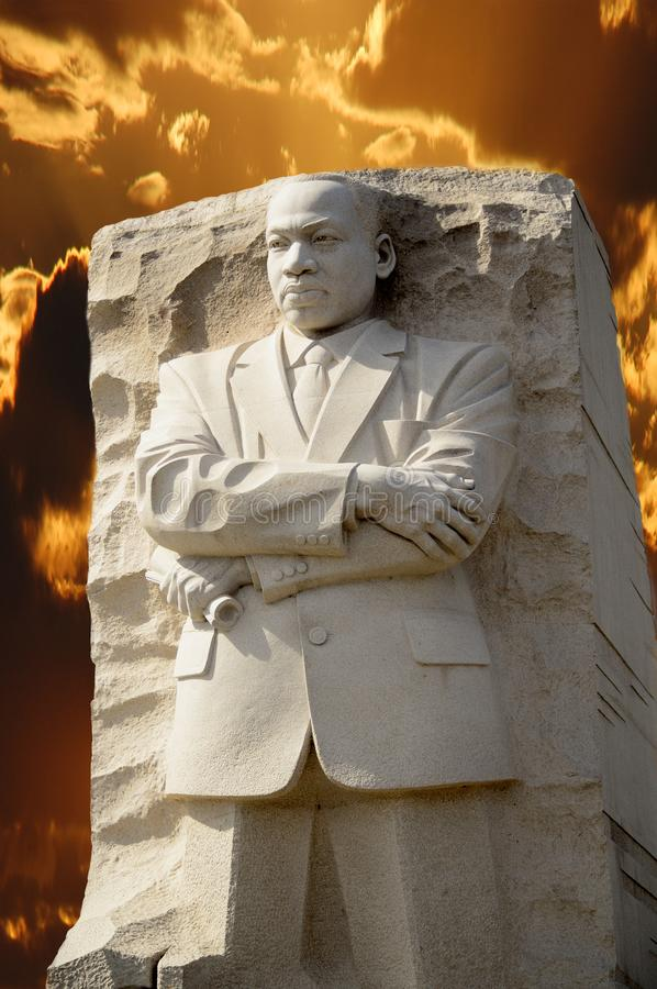 Martin Luther King jr statua zdjęcia royalty free