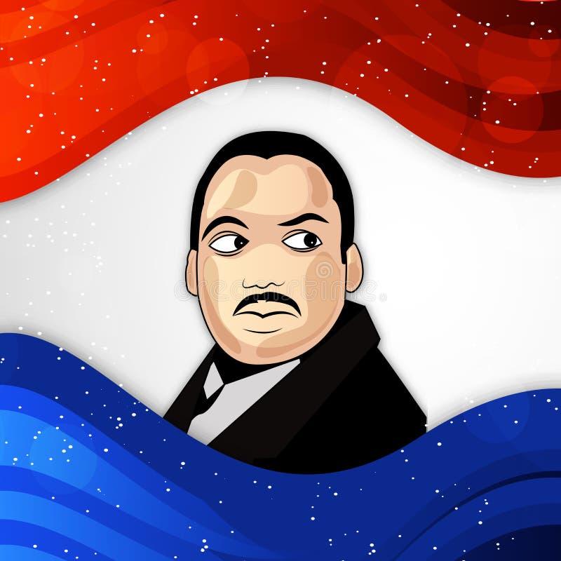 Martin Luther King, jr Tageshintergrund stock abbildung