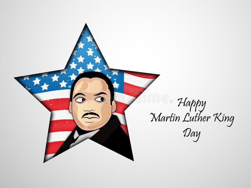 Martin Luther King, jr Tageshintergrund vektor abbildung