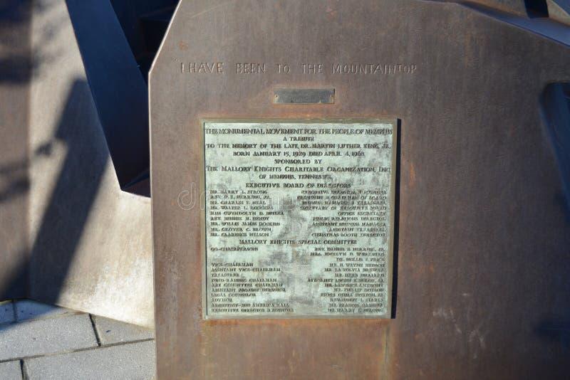 Martin Luther King Jr Tengo una placa ideal Memphis, Tennessee del discurso fotos de archivo libres de regalías