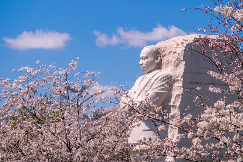 Martin Luther King Junior Memorial in Washington D C , de V stock afbeelding