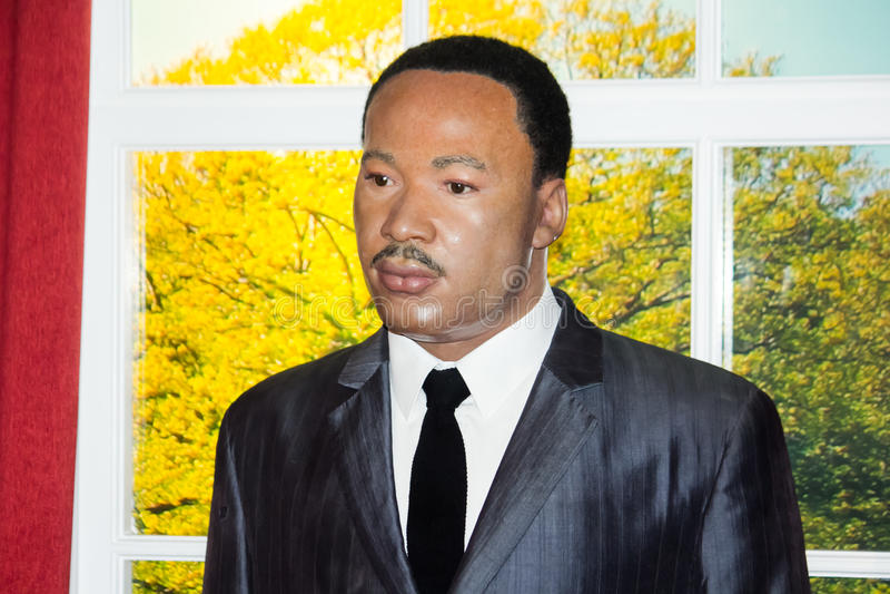 Martin Luther King, mémorial de Jr Chiffre de cire photos libres de droits