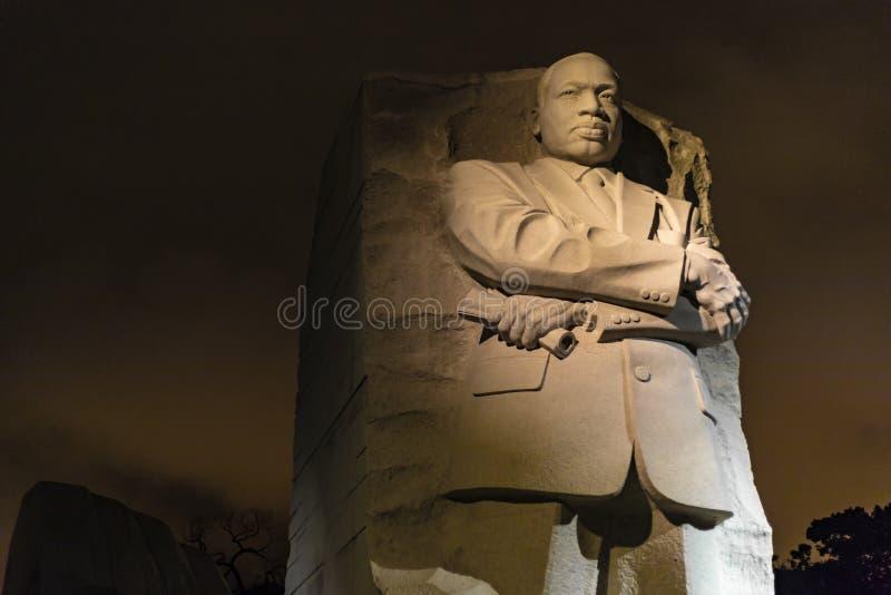 Martin Luther King, mémorial de Jr Mémorial la nuit photo stock