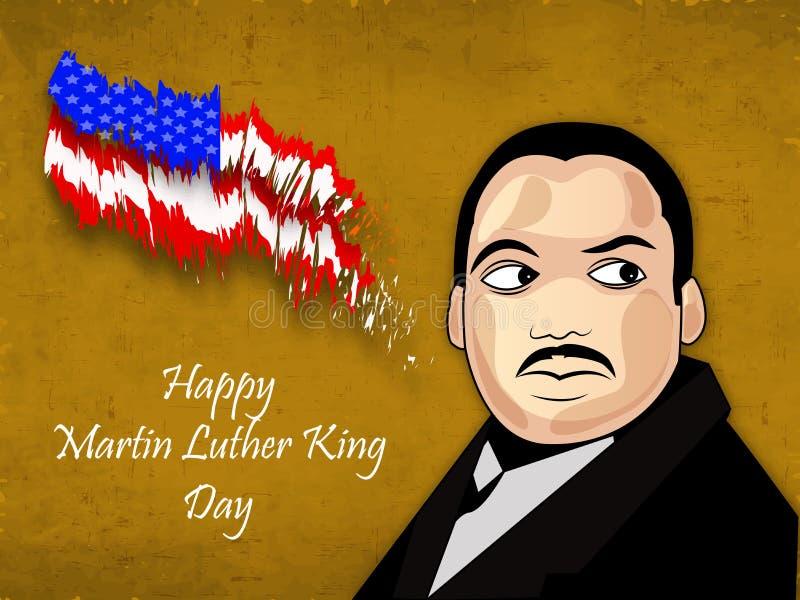 Martin Luther King, memorial do Jr Fundo do dia ilustração stock