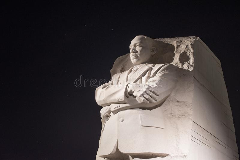 Martin Luther King, memorial do Jr monumento fotografia de stock