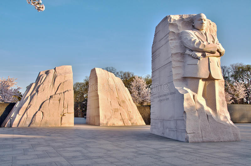 Martin Luther King Memorial no nascer do sol fotografia de stock royalty free