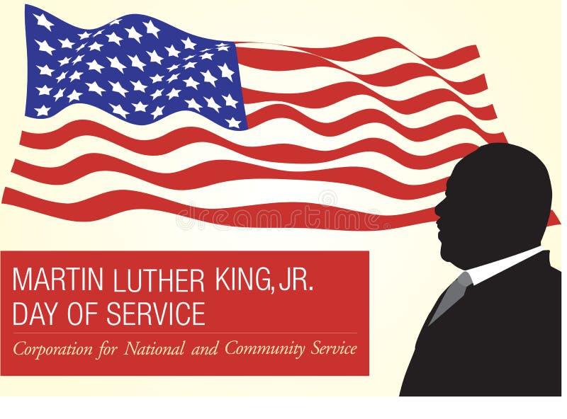 Martin Luther King, memoriale del Jr giorno illustrazione vettoriale