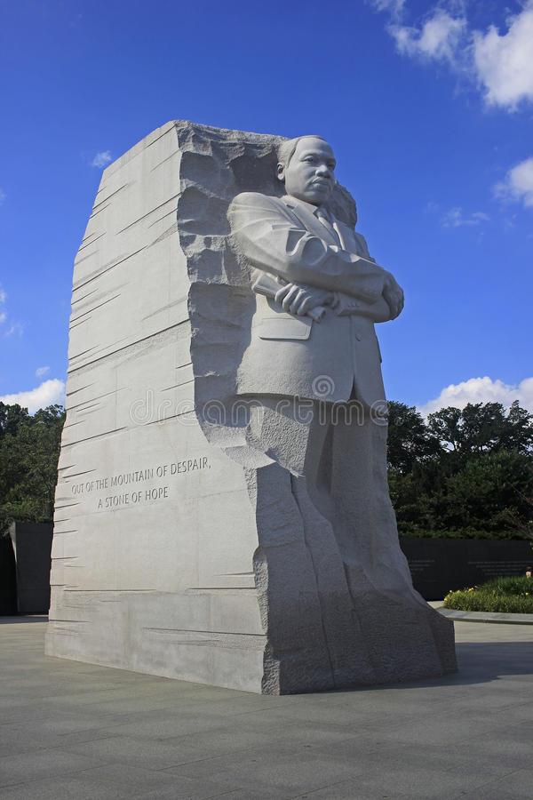 Martin Luther King Monument in Washington DC July 2015. The Martin Luther King Monument on the National Mall in Washington, DC commemorating Dr. King and his royalty free stock photo