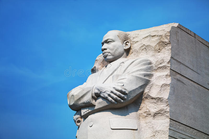 Martin Luther King, monumento memorável do júnior em Washington, C.C. imagens de stock royalty free