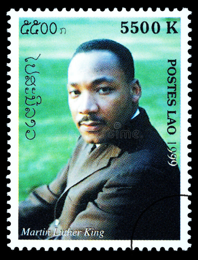 Martin Luther King Postage Stamp fotos de stock