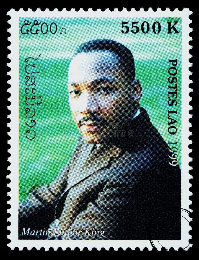 Martin Luther King znaczek pocztowy fotografia royalty free
