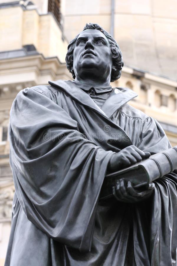 The Martin Luther monument in Dresden Germany.  royalty free stock photos