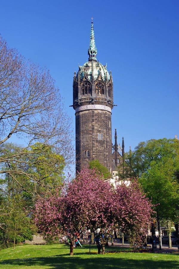 Martin Luther Schlosskirche Tower stock fotografie