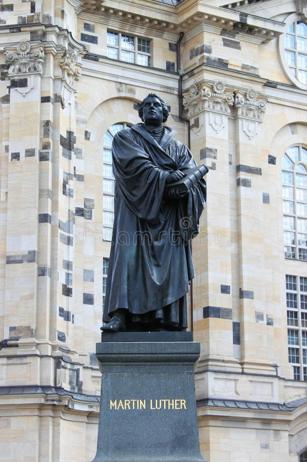 Martin Luther statue royalty free stock photography