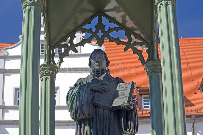 Martin Luther Wittenberg stock afbeelding