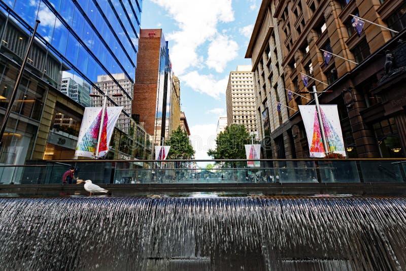 Martin miejsca fontanna, Sydney, Australia obrazy stock