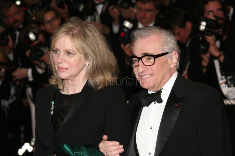 Martin Scorsese y esposa Helen Morris fotografía de archivo libre de regalías