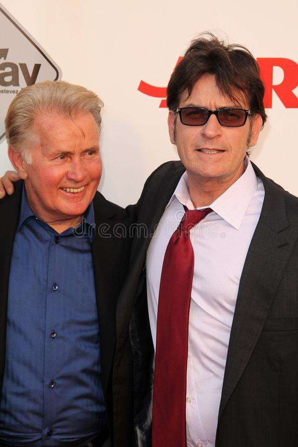 Charlie Sheen,Martin Sheen royalty free stock images