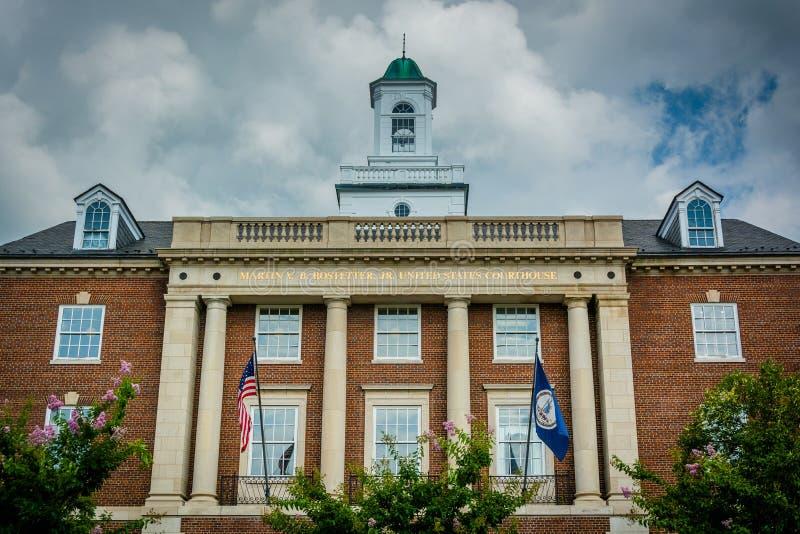 The Martin V.B. Bostetter, Jr. United States Courthouse, in Alex. The Martin V.B. Bostetter Jr United States Courthouse, in Alexandria, Virginia stock photo