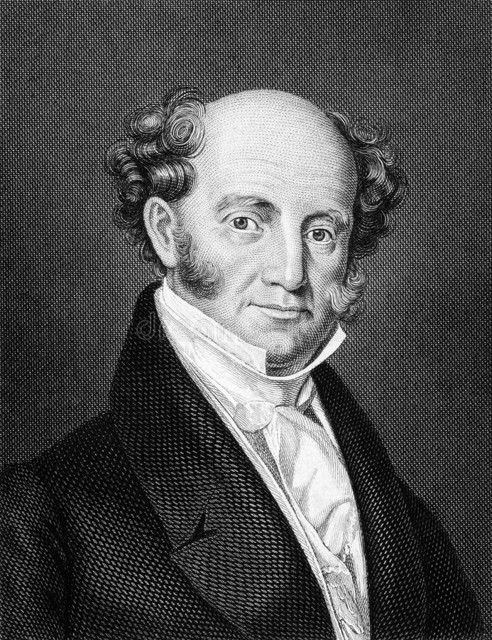 Martin Van Buren royalty-vrije stock afbeelding