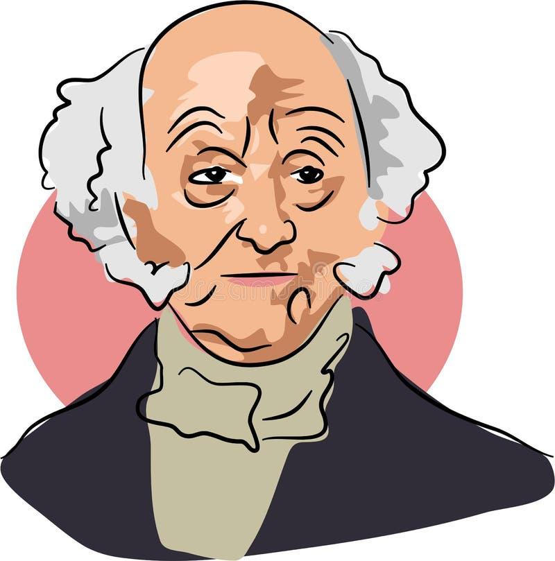 Martin Van Buren vector illustratie
