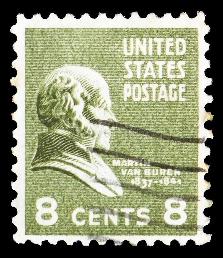 Martin Van Buren 1782-1862, achtste Voorzitter van U S A , Presidenti?le Kwestie serie, circa 1938 stock afbeelding