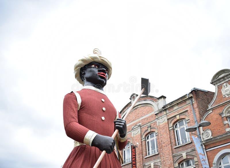 Martine di Martin durante la parata in Francia fotografia stock
