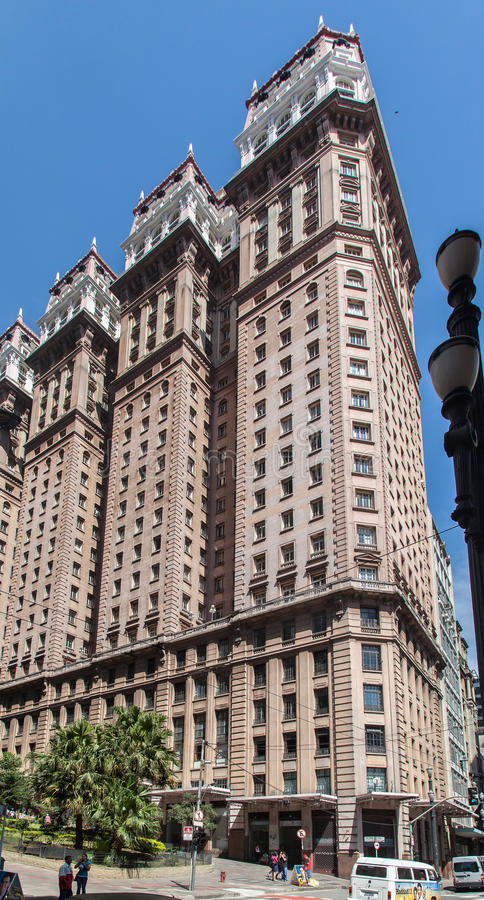 Martinelli byggnad Sao Paulo Brasilien royaltyfri foto