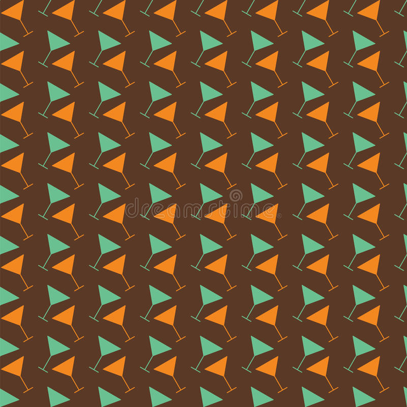 Martini άνευ ραφής σχέδιο χρώμα αναδρομικό απεικόνιση αποθεμάτων