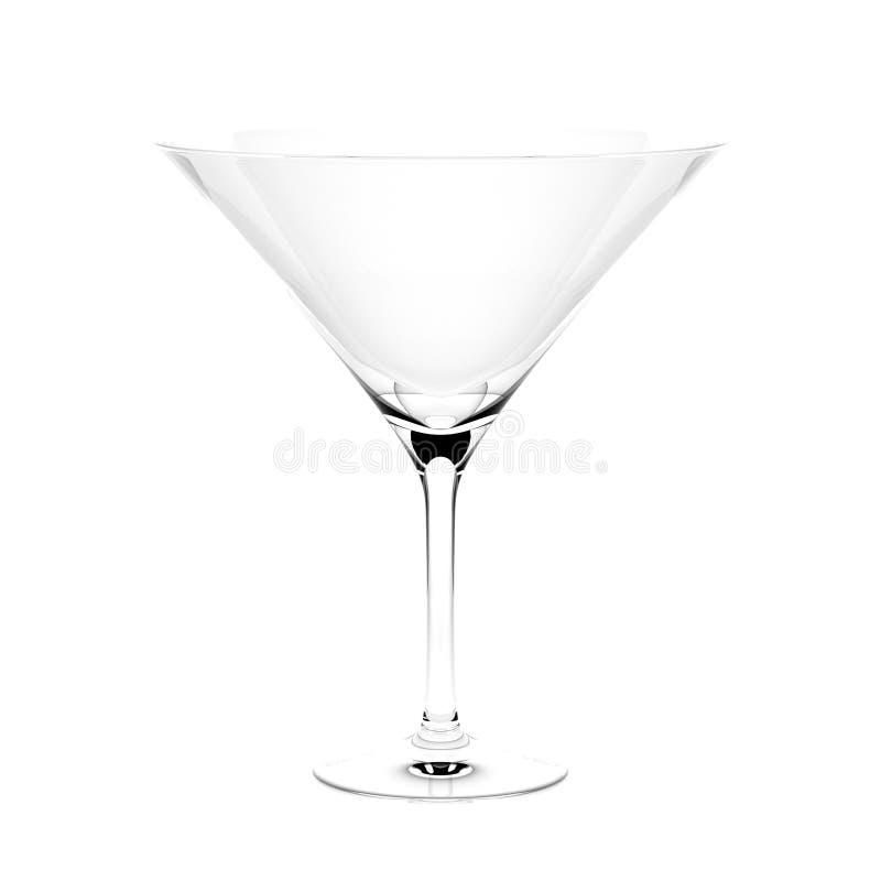 Martini γυαλί κοκτέιλ δίνοντας απεικόνιση που απομονώνεται τρισδιάστατη διανυσματική απεικόνιση