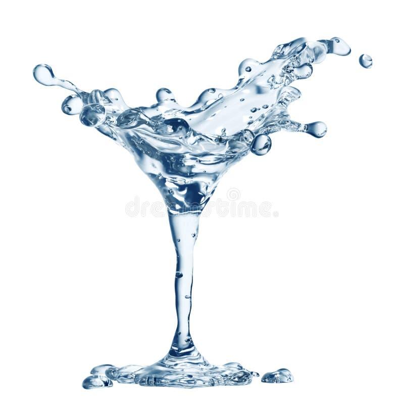 Martini γυαλί με τις πτώσεις νερού στοκ φωτογραφία με δικαίωμα ελεύθερης χρήσης