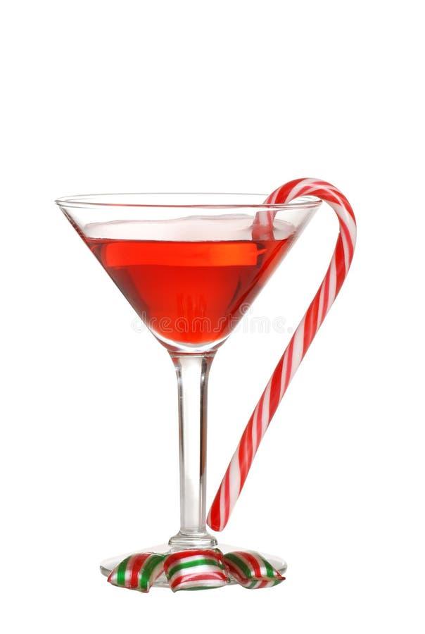 martini Χριστουγέννων καραμελώ στοκ φωτογραφία με δικαίωμα ελεύθερης χρήσης