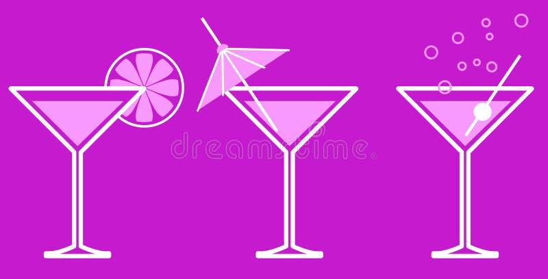 Martini illustration de vecteur