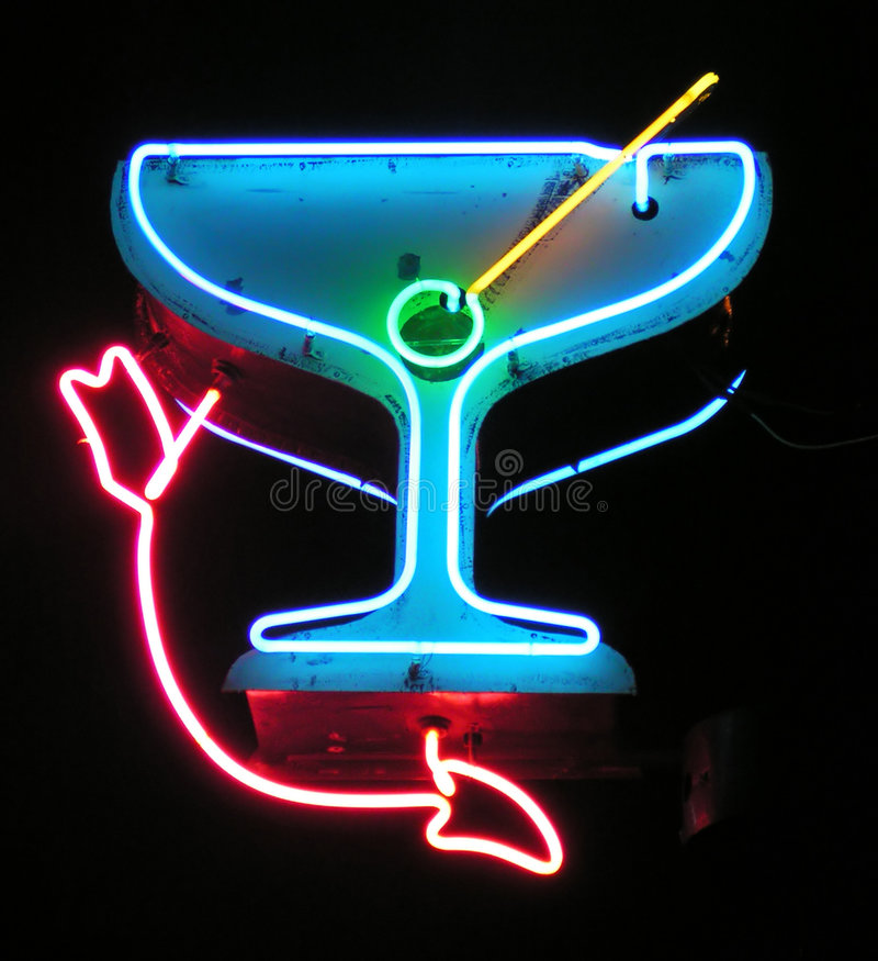 Martini avec la flèche image libre de droits