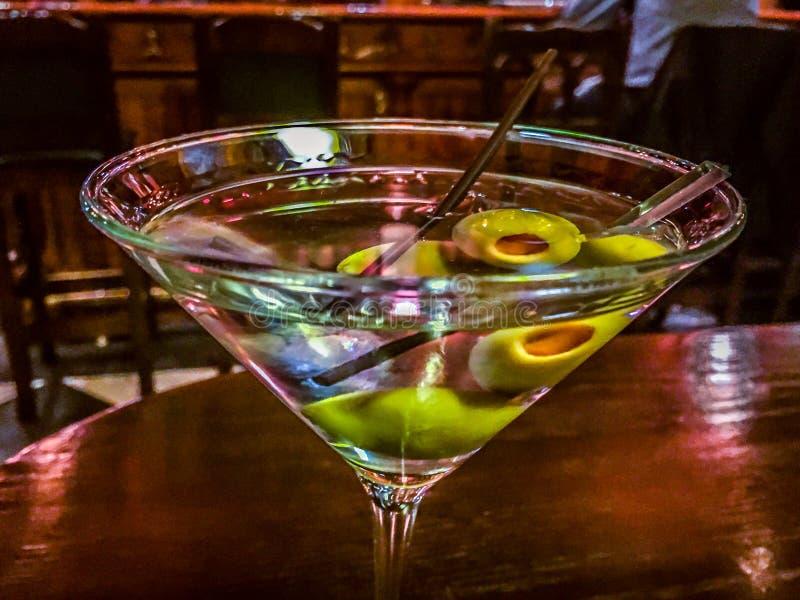 Martini at the Bar Close-up royalty free stock photos