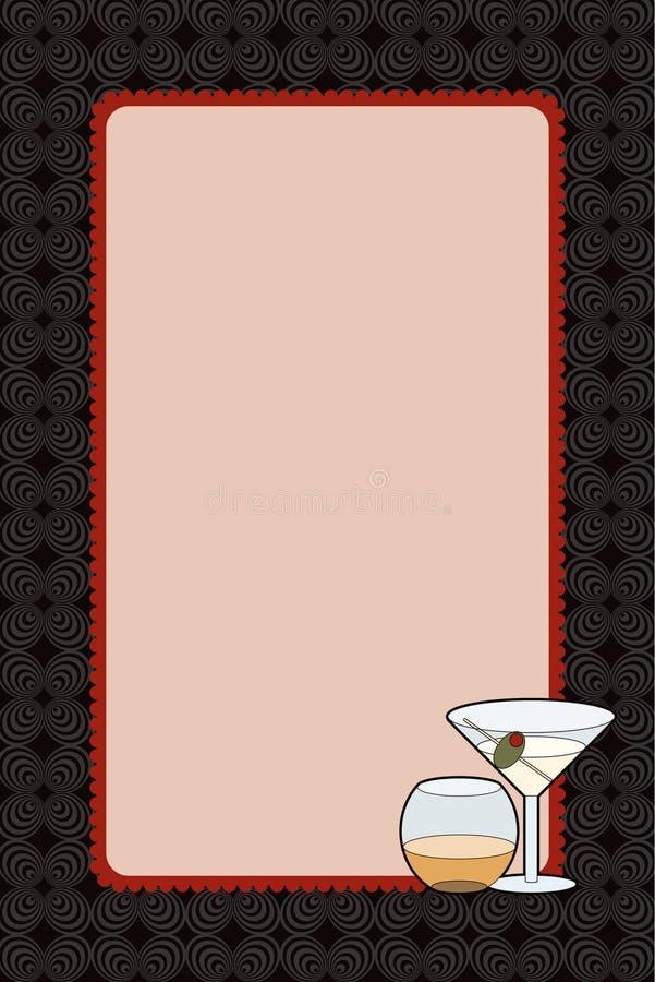 Martini bebe la invitación de la noche ilustración del vector