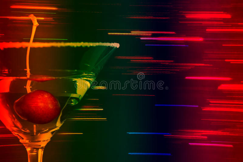 Martini with Cherry royalty free stock images