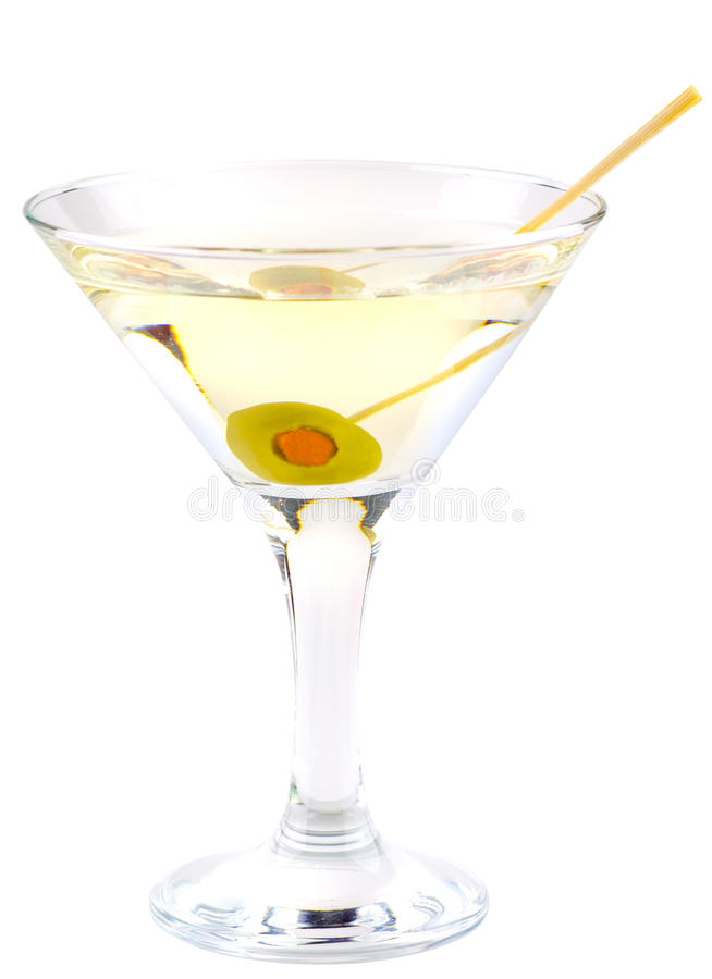 Martini cocktail stock photo