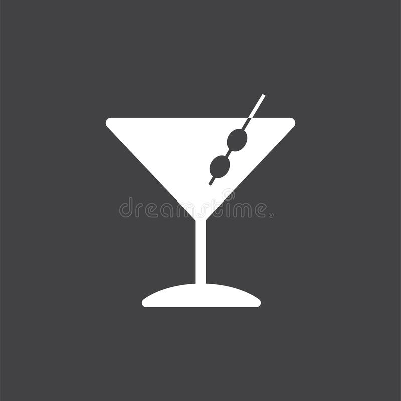 Martini cocktails glass icon illustration vector illustration