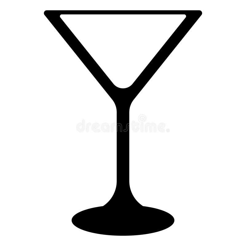 Martini coctailexponeringsglas royaltyfri illustrationer