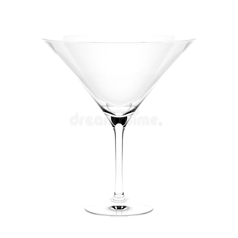 Martini coctailexponeringsglas isolerad illustration f?r tolkning 3d vektor illustrationer