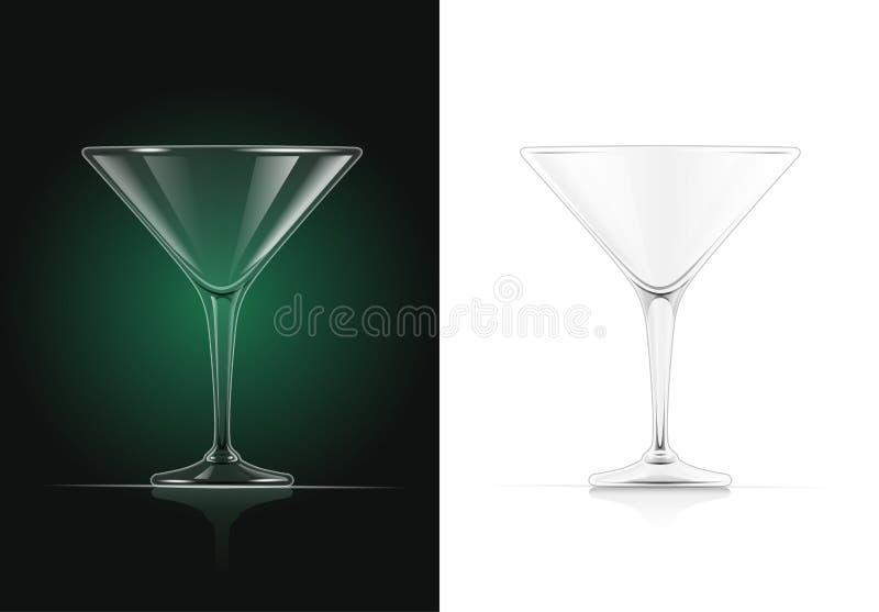 Martini, coctel stock de ilustración