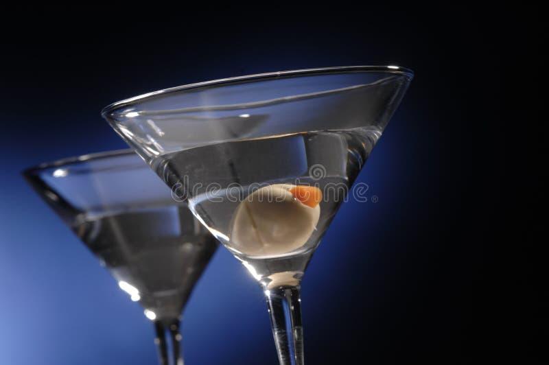 Martini com azeitona fotografia de stock