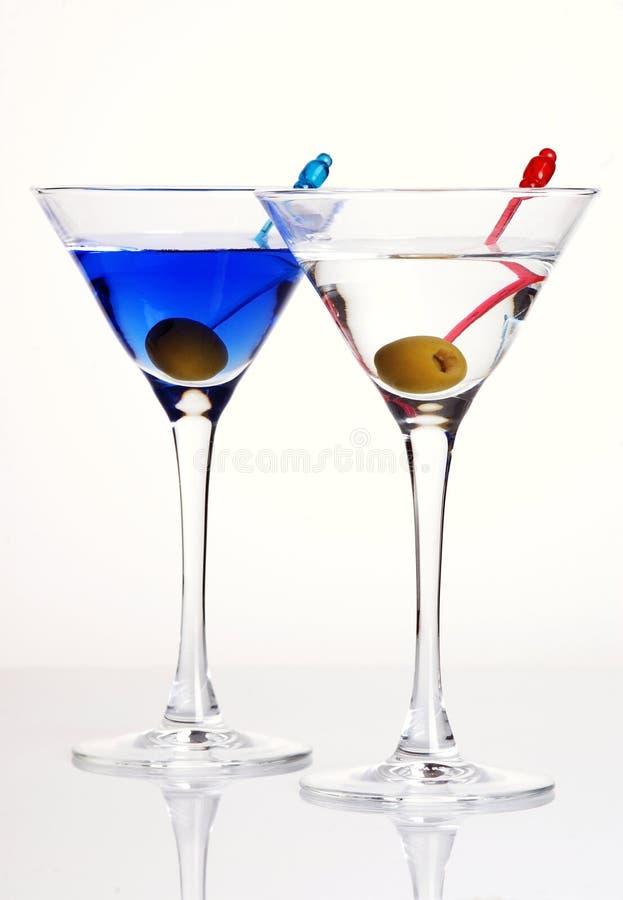 Martini com azeitona foto de stock