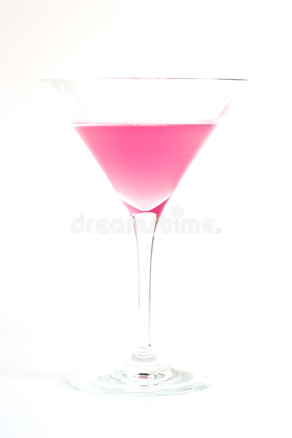 Martini cor-de-rosa foto de stock